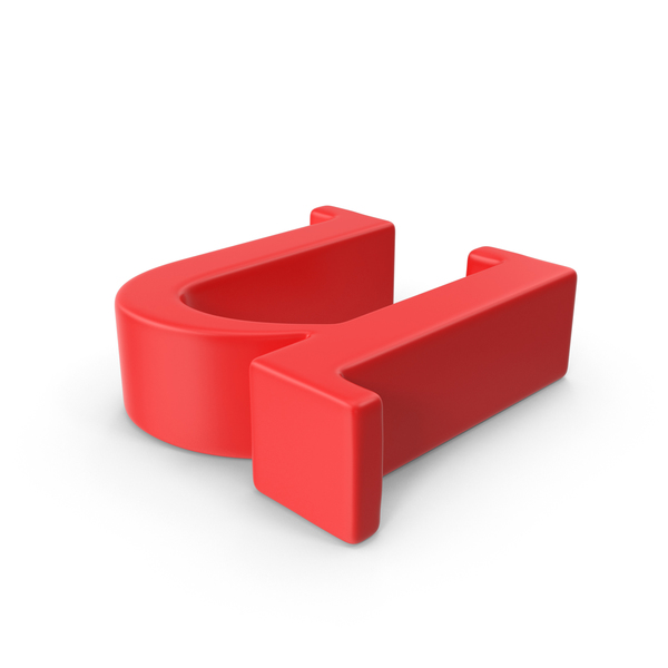 Red Small Letter U Object