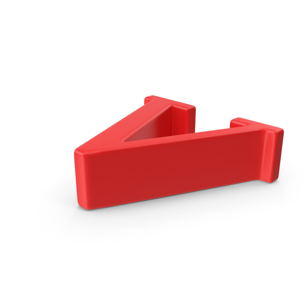 Red Small Letter V Object