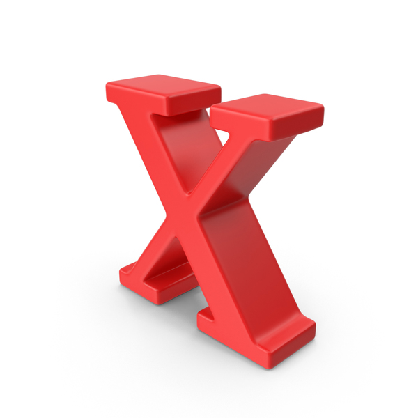 Red Small Letter X PNG & PSD Images