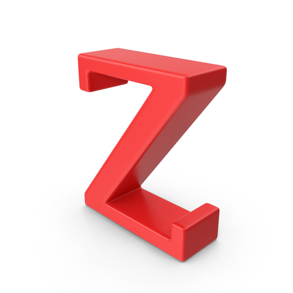 Red Small Letter Z Object