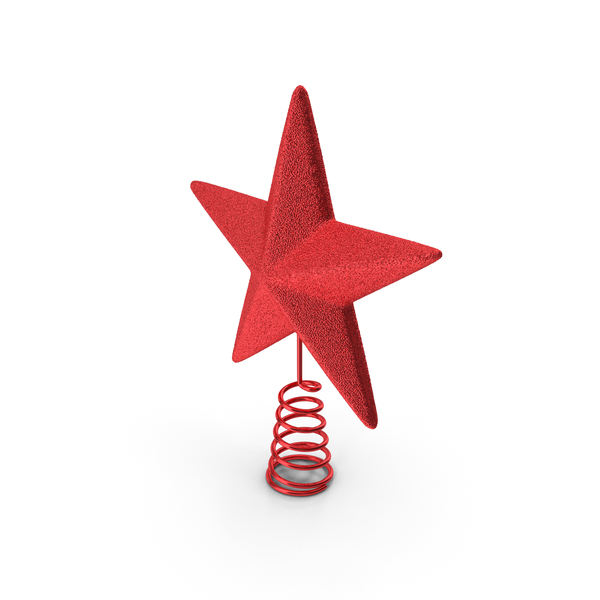 Red Star Tree Topper Holder PNG & PSD Images
