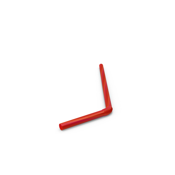 Red Straw Object