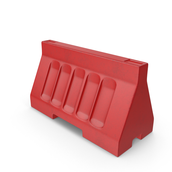 Red Street Barrier PNG & PSD Images