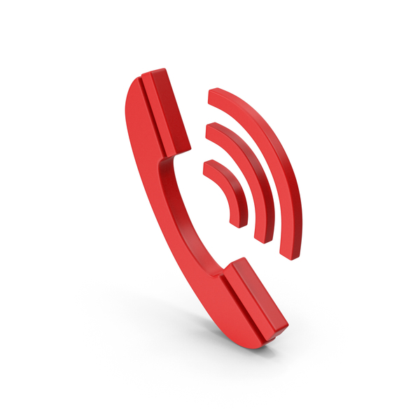 Red Symbol Phone PNG & PSD Images
