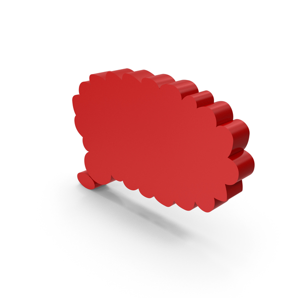 Red Thought Bubble Symbol PNG & PSD Images