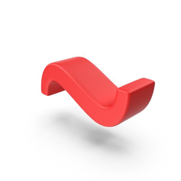 Language: Red Tilde Symbol PNG & PSD Images
