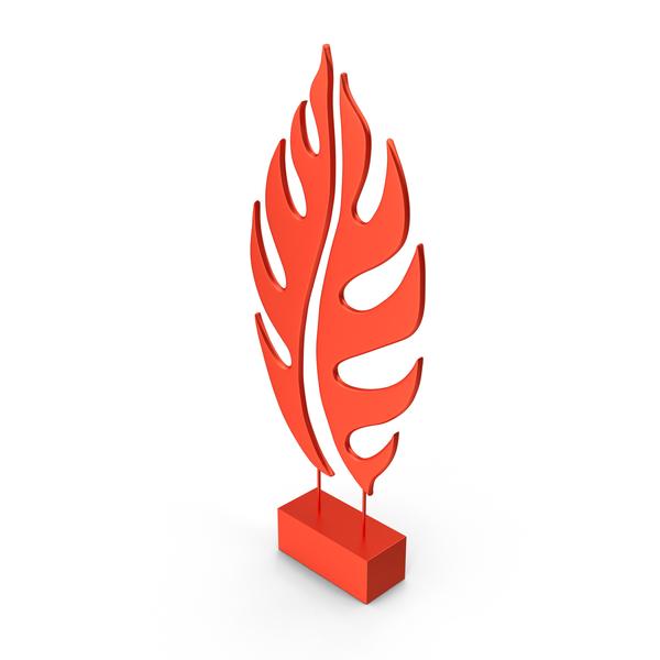 Red Tree Leaf Sculpture PNG & PSD Images