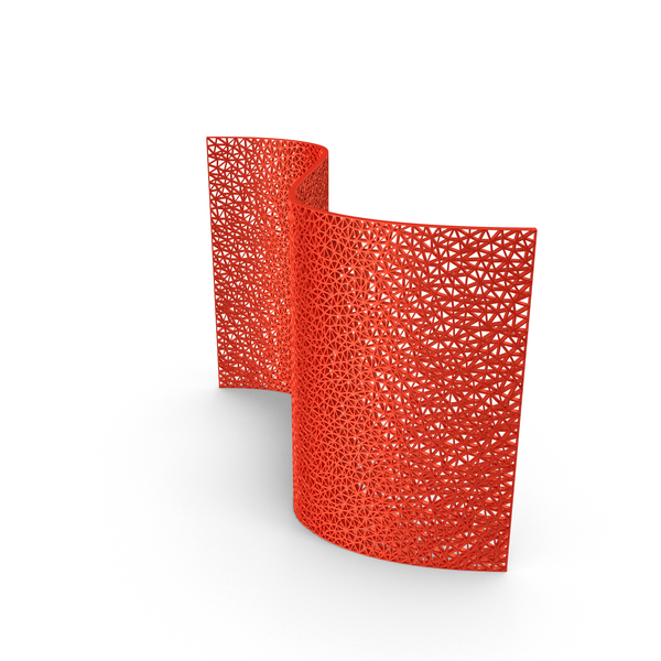 Red Triangular Mesh Wall PNG & PSD Images