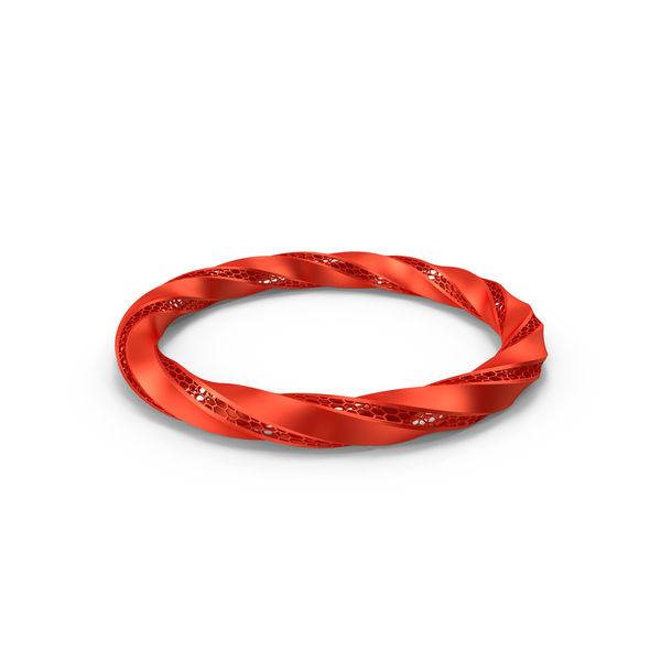 Red Triply Twisted Torus With Holes PNG & PSD Images