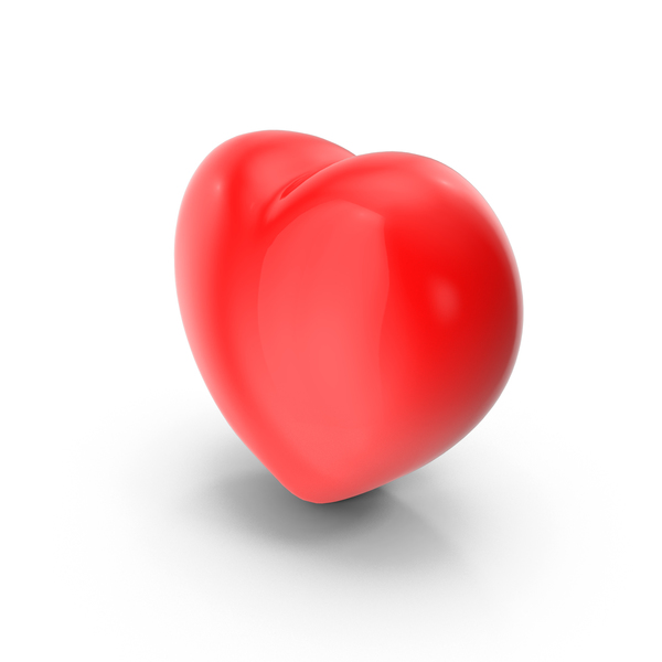 Heart Shaped Candy: Red Valentines Heart PNG & PSD Images