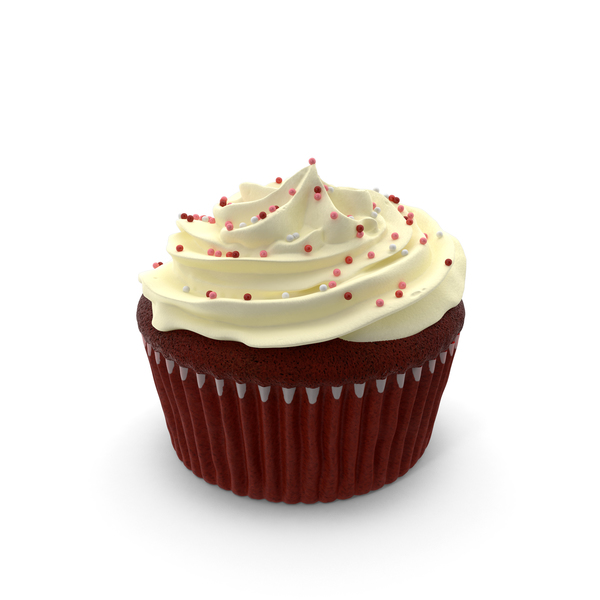 Red Velvet Cupcake PNG & PSD Images