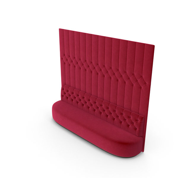 Red Velvet Tufted Sofa PNG & PSD Images