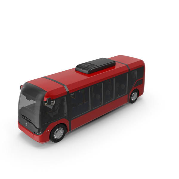 Bus: Red Vero E-Bus PNG & PSD Images