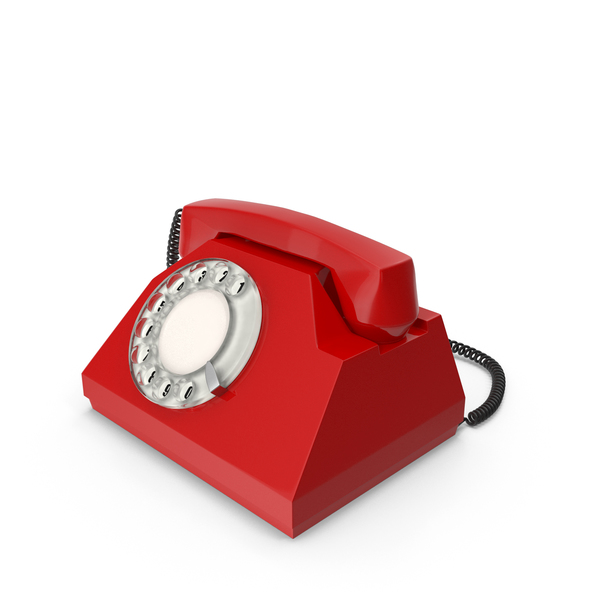 Rotary: Red Vintage Phone PNG & PSD Images