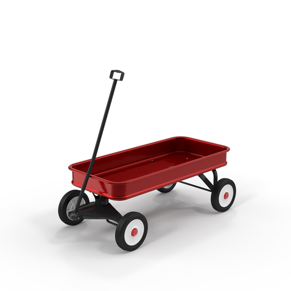 Toy: Red Wagon PNG & PSD Images
