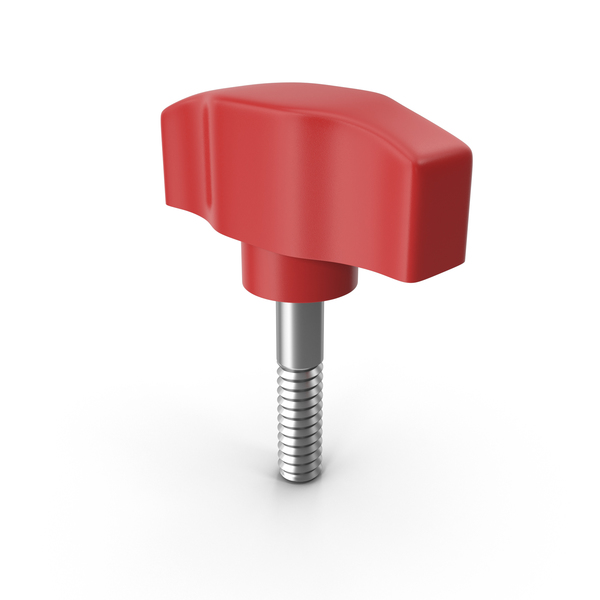 Red Wing Nut Knob PNG & PSD Images