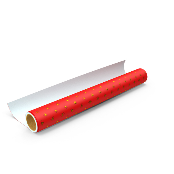 Red Wrapping Paper Roll PNG & PSD Images
