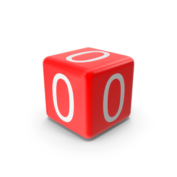 Alphabet Blocks: Red Zero Block Object