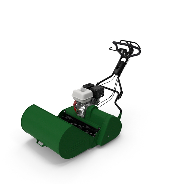 Cylinder Lawn: Reel Mower with Engine PNG & PSD Images