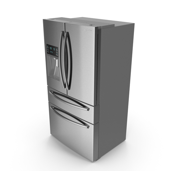 Refrigerator Samsung 4 Door with FlexZone Drawer Steel PNG & PSD Images