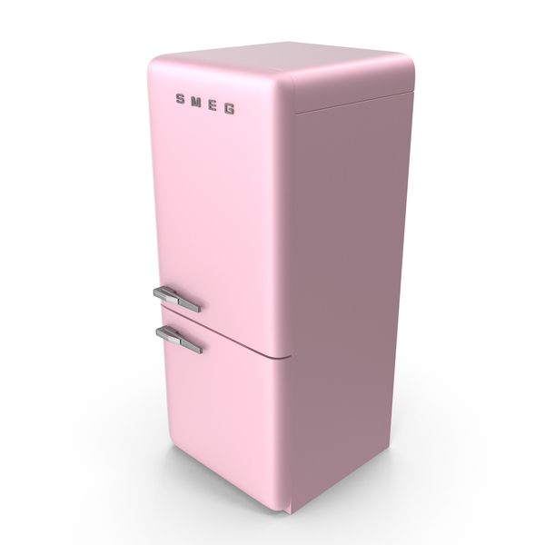 Refrigerator Smeg Pink PNG & PSD Images