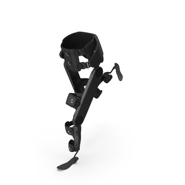 Prosthetic: Rehabilitation Exoskeleton Indego Running Pose PNG & PSD Images