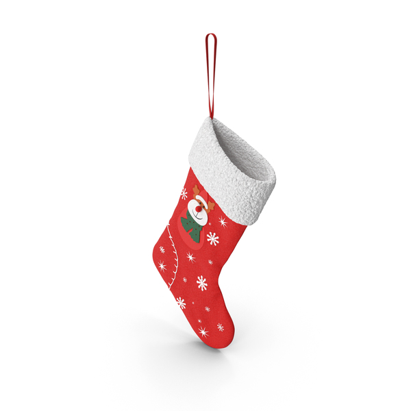 Reindeer Stocking PNG & PSD Images