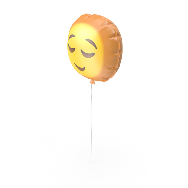 Relieved Emoji Balloon PNG & PSD Images