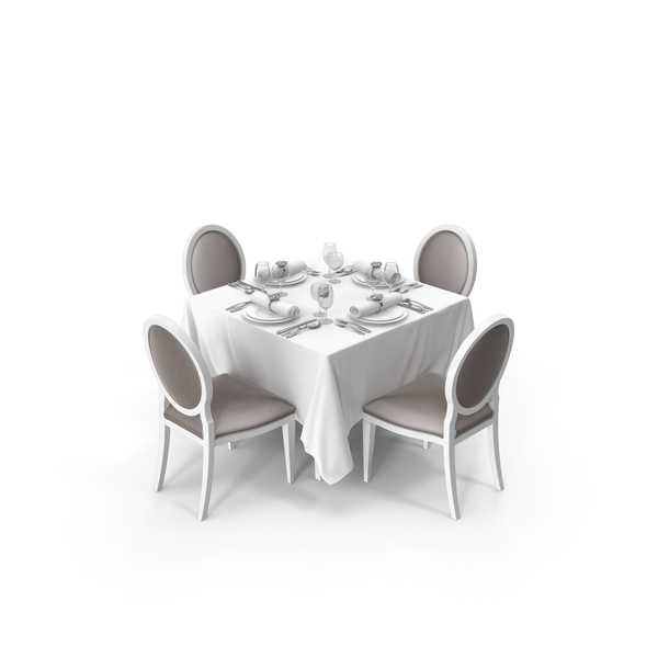 Restaurant Table Set PNG & PSD Images