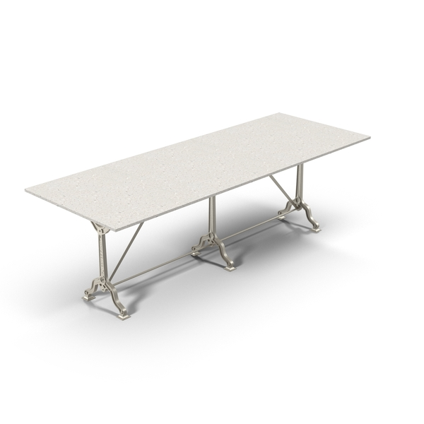 Table: Restoration Hardware Factory Zinc & Cast Iron Dining Tables Object