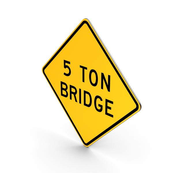 Traffic Signs: Restricted Weight Bridge Road Sign PNG & PSD Images