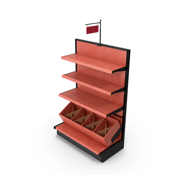 Display Stand: Retail Shelf PNG & PSD Images