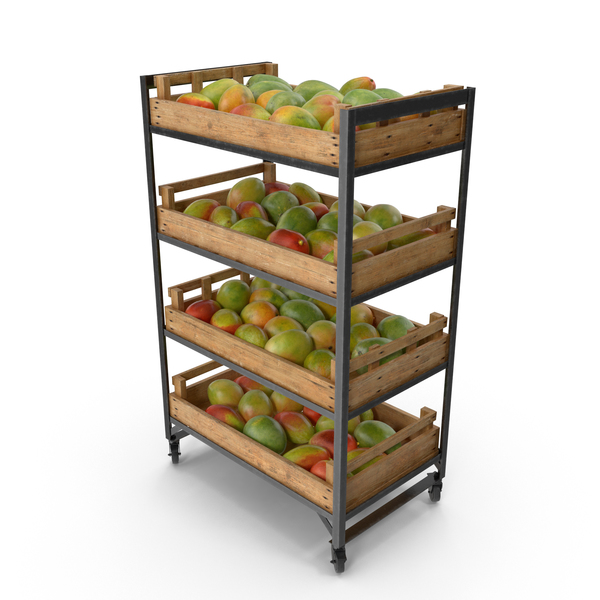 Retail Shelf With Mangos PNG & PSD Images