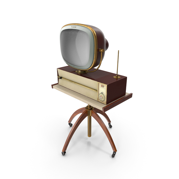 Retro 1959 Philco Predicta Princess Swivel TV with Stand PNG & PSD Images