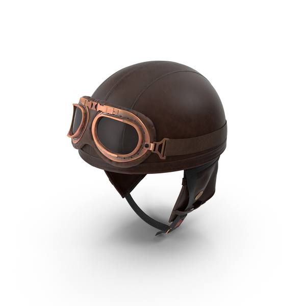 Flight: Retro Aviator Helmet PNG & PSD Images
