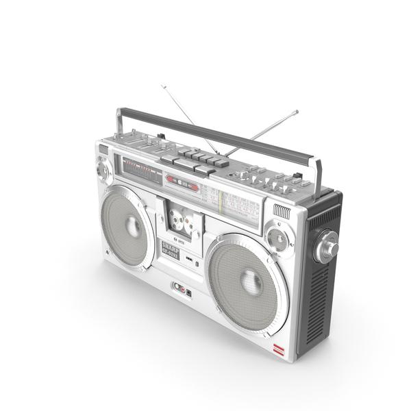 Boom Box: Retro Boombox Sharp GF-9292 PNG & PSD Images