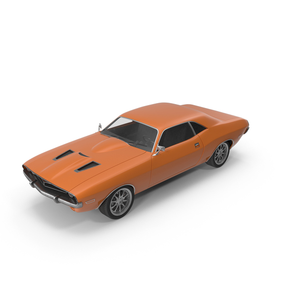 Retro Car Orange PNG & PSD Images