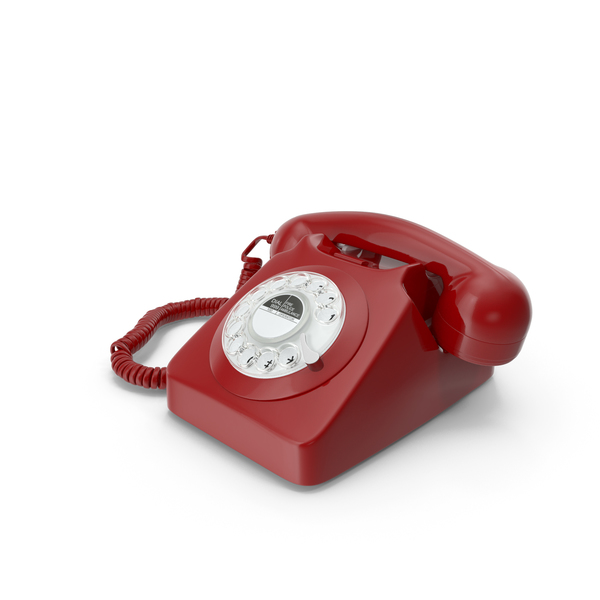 Rotary: Retro Design Corded Landline Phone PNG & PSD Images