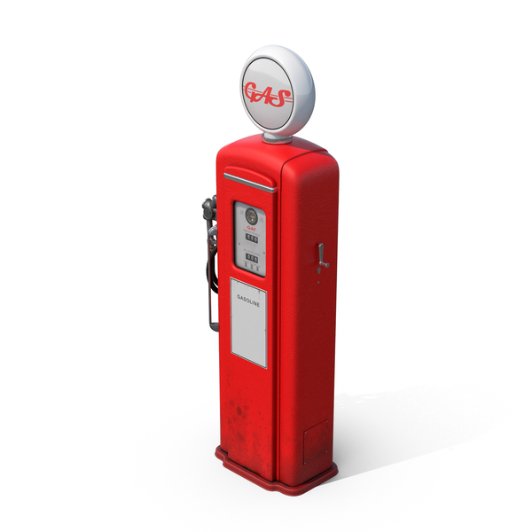 Retro Gas Pump PNG & PSD Images