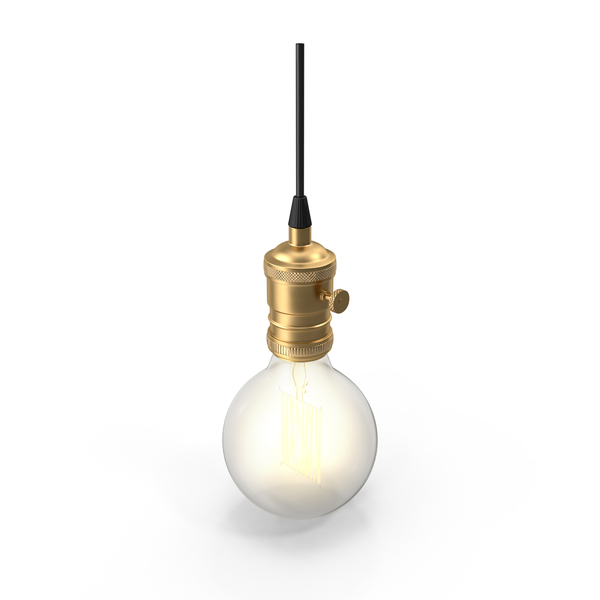 Hanging Lamp: Retro Light Bulb PNG & PSD Images