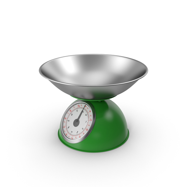 Retro Mechanical Kitchen Scale Green PNG & PSD Images