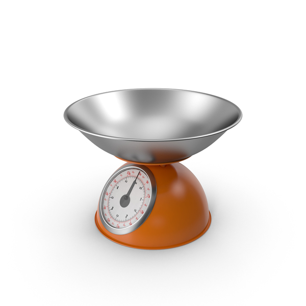 Retro Mechanical Kitchen Scale Orange PNG & PSD Images