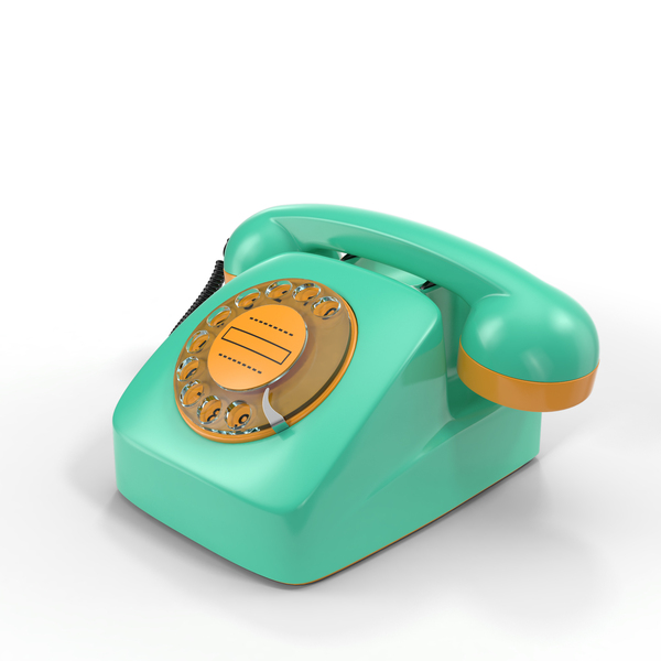 Retro Phone Object