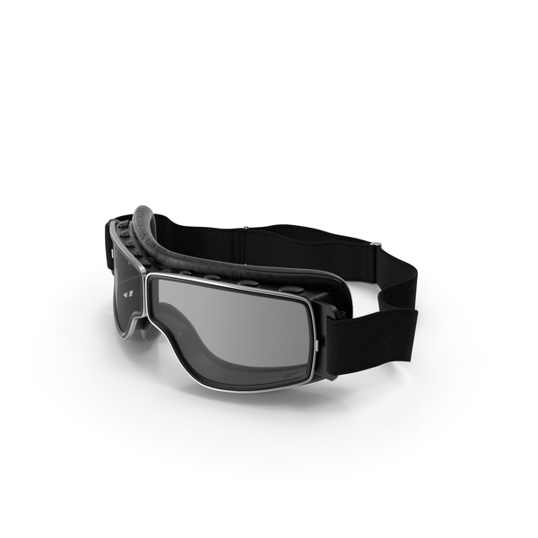 Retro Pilot Goggles Black PNG & PSD Images
