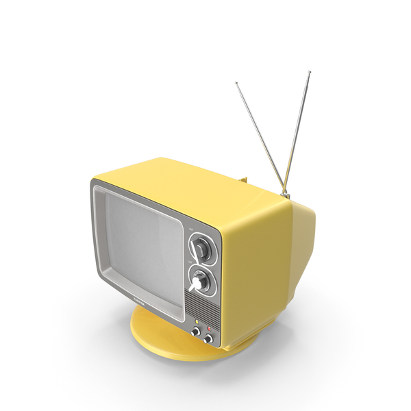 Retro Portable TV TOSHIBA Blackstripe PNG & PSD Images