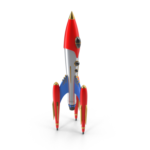 Retro Rocket ship Object