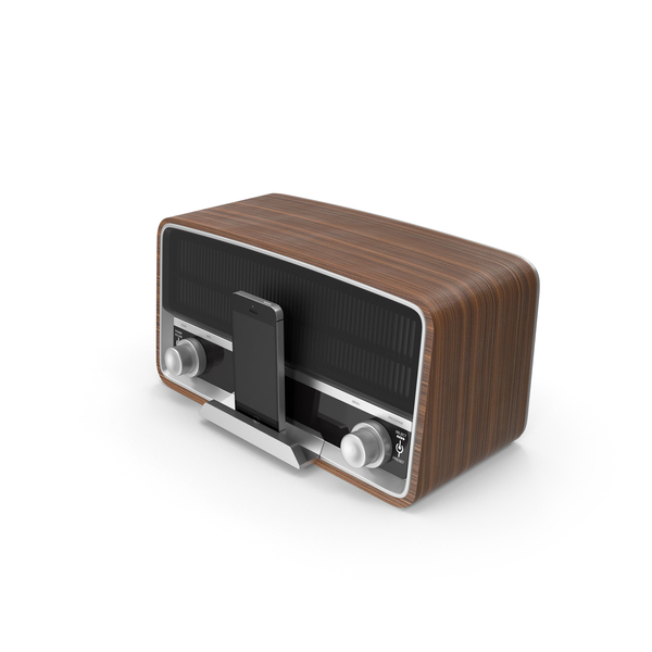 Retro Smartphone Speaker Docking Station PNG & PSD Images