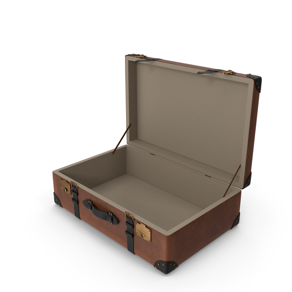 Retro Suitcase Brown PNG & PSD Images