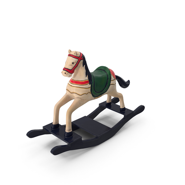 Retro Toy Rocking Horse PNG & PSD Images