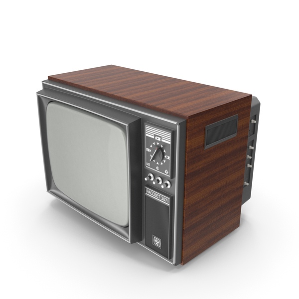 Retro TV Rassvet 3071 Crt PNG & PSD Images